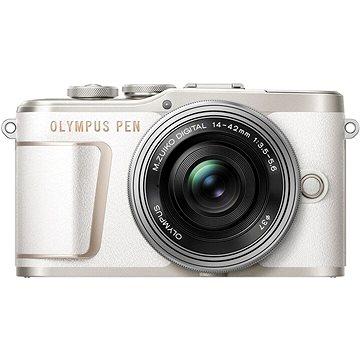 Olympus PEN E-PL10 bílý + Pancake Zoom Kit 14-42 mm stříbrný (V205101WE000)