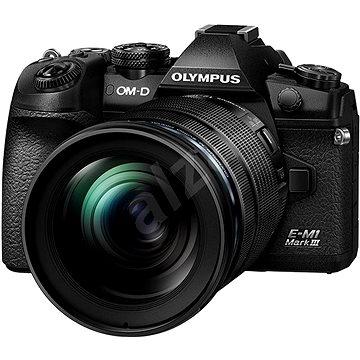 Olympus E-M1 Mark III tělo + objektiv 12-40mm černý/černý (V207101BE000)