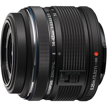 M.ZUIKO DIGITAL 14-42mm II R black (V314050BE000) + ZDARMA Štětec na optiku Hama Lenspen