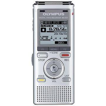 Olympus WS-831 silver + stereo mikrofon ME51S (V406171SE010)