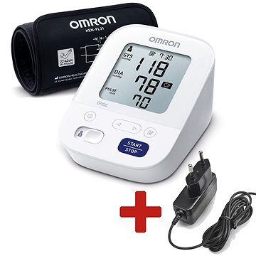 OMRON M3 Comfort intelli +ZDROJ (SET), 4roky záruka (2197)