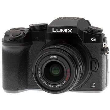 Panasonic LUMIX DMC-G7 černý + objektiv LUMIX G VARIO 14-42 mm (F3.5-5.6) (DMC-G7KEG-K) + ZDARMA Poukaz Elektronický dárkový poukaz Alza.cz v hodnotě 1000 Kč, platnost do 28/2/2017 Brašna na fotoaparát Lowepro Format 110 černý
