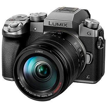 Panasonic LUMIX DMC-G7 stříbrný + objektiv LUMIX G VARIO 14-140 mm (F3.5-5.6) (DMC-G7HEG-S) + ZDARMA Poukaz Elektronický dárkový poukaz Alza.cz v hodnotě 1000 Kč, platnost do 28/2/2017 Brašna na fotoaparát Lowepro Format 110 černý