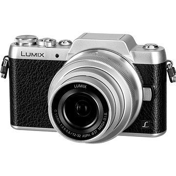Panasonic LUMIX DMC-GF7 stříbrný + objektiv 12-32mm (DMC-GF7KEG-S) + ZDARMA Fotobrašna Starblitz WIZZ 11 Ministativ MANFROTTO MTPIXI-B PIXI černý