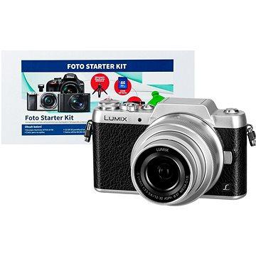 Panasonic LUMIX DMC-GF7 stříbrný + objektiv 12-32mm + Alza Foto Starter Kit + ZDARMA Fotobrašna Starblitz WIZZ 11