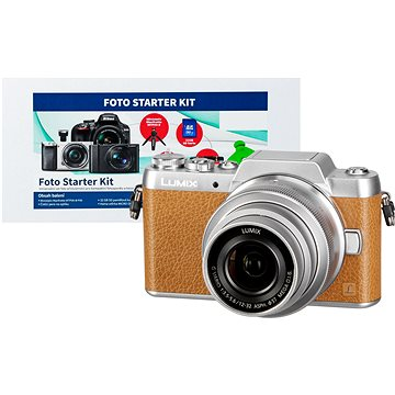 Panasonic LUMIX DMC-GF7 hnědý + objektiv 12-32mm + Alza Foto Starter Kit + ZDARMA Fotobrašna Starblitz WIZZ 11