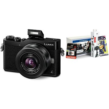 Panasonic LUMIX DMC-GX800 černý + objektiv 12-32mm + Alza Foto Video Starter Kit 2019