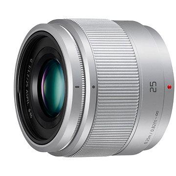 Panasonic Lumix G 25mm f/1.7 ASPH stříbrný (H-H025ME-S)