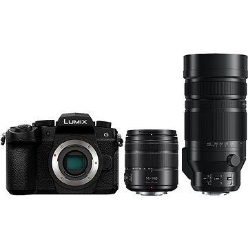 Panasonic LUMIX DC-G90 + Lumix G Vario 14-140mm černý + Panasonic Leica DG Vario-Elmar 100-400mm f/4