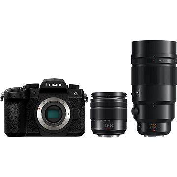 Panasonic LUMIX DC-G90 + Lumix G Vario 12–60 mm čierny + Panasonic Leica DG Elmarit 200 mm f/2,8 Power