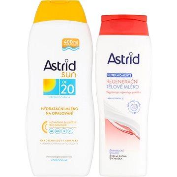 ASTRID SUN Hydratační mléko na opalování OF 20 400 ml + Tělové mléko 250 ml (8592297004417)