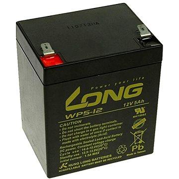 Long 12V 5Ah olověný akumulátor F2 (WP5-12B F2) (PBLO-12V005-F2A)