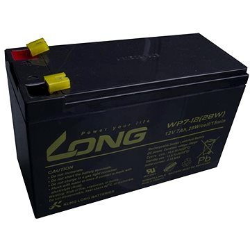 Long 12V 7Ah olověný akumulátor F1 (WPS7-12) (PBLO-12V007-F1A)