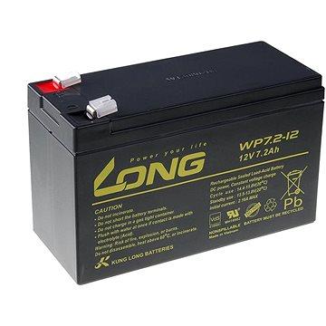 Long 12V 7.2Ah olověný akumulátor F2 (WP7.2-12 F2) (PBLO-12V007,2-F2A)