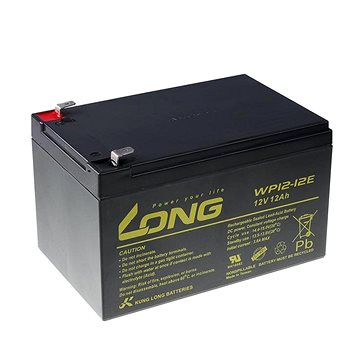 Long 12V 12Ah olověný akumulátor DeepCycle AGM F2 (WP12-12E) (PBLO-12V012-F2AD)