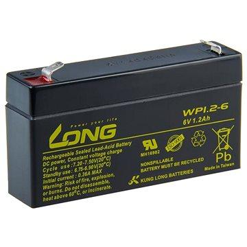 Long 6V 1.2Ah olověný akumulátor F1 (WP1.2-6) (PBLO-6V001,2-F1A)