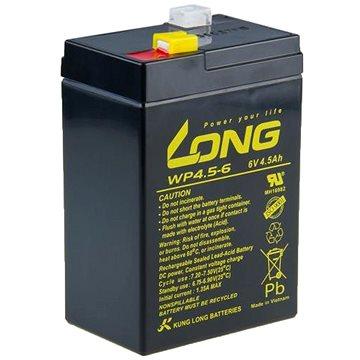 Long 6V 4.5Ah olověný akumulátor F1 (WP4.5-6) (PBLO-6V004,5-F1A)
