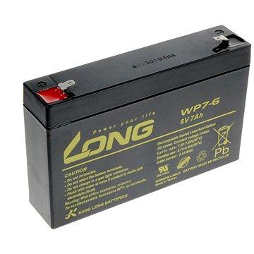 Long 6V 7Ah olověný akumulátor F1 (WP7-6) (PBLO-6V007-F1A)
