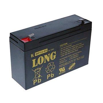 Long 6V 12Ah olověný akumulátor F1 (WP12-6S) (PBLO-6V012-F1A)
