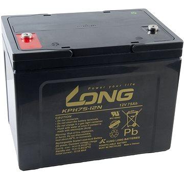 Long 12V 75Ah olověný akumulátor Deep Cycle AGM F8 (KPH75-12N) (PBLO-12V075-F8AD)