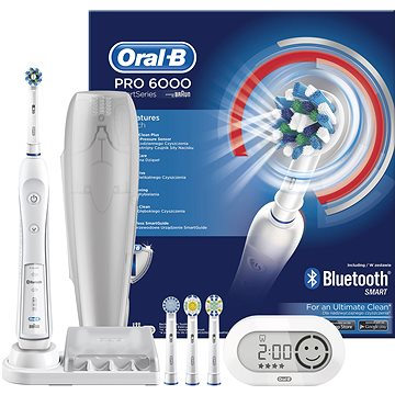 Elektrický zubní kartáček Oral B Pro 6000 (4210201134336) + ZDARMA Náhradní nástavec pro zubní kartáčky Oral B EB 50-4 Cross Action
