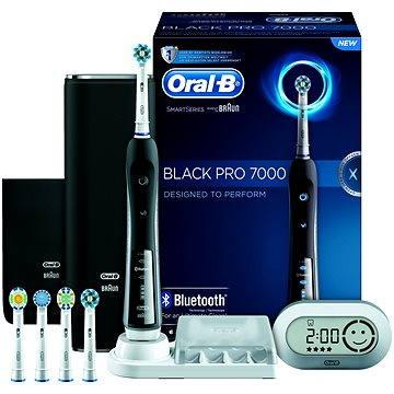 Elektrický zubní kartáček Oral B Black Pro 7000 (4210201134558) + ZDARMA Náhradní nástavec pro zubní kartáčky Oral B EB 50-4 Cross Action