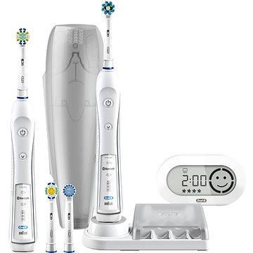 Elektrický zubní kartáček Oral B Pro 6900 White + bonus handle (4210201135906) + ZDARMA Náhradní nástavec pro zubní kartáčky Oral B EB 50-4 Cross Action