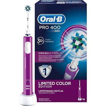 Elektrický zubní kartáček Oral B Pro 400 Purple (4210201135593)