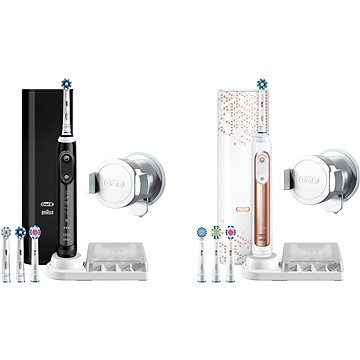 Oral-B Genius 9000 Black + Oral-B Genius 9000 Rose Gold