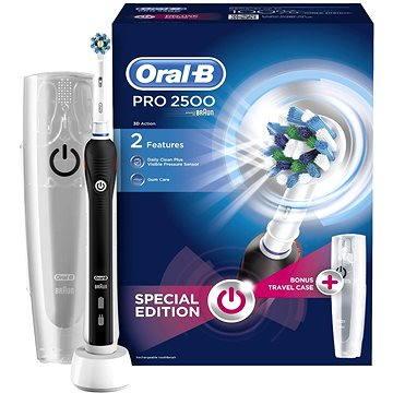 Elektrický zubní kartáček Oral-B Pro 2500 Cross Action Black (4210201162612) + ZDARMA Náhradní nástavec pro zubní kartáčky Oral B EB 50-2 Cross Action