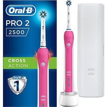 Elektrický zubní kartáček Oral-B PRO2500 3DW (4210201183488) + ZDARMA Náhradní nástavec pro zubní kartáčky Oral-B EB 50-2 Cross Action