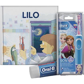 Oral-B Vitality Kids Frozen + Oral-B zubní pasta + knížka (4210201303572)