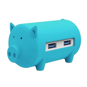 ORICO Piggy 3x USB 3.0 hub + SD card reader blue (H4018-U3-BL)