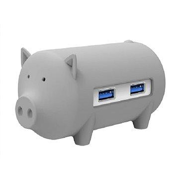 ORICO Piggy 3x USB 3.0 hub + SD card reader grey (H4018-U3-GY)