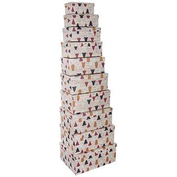 Krabice papír dárková VÁNOČNÍ 10 ks (822684)