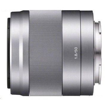 Sony 50mm F1.8 stříbrný (SEL50F18.AE) + ZDARMA Štětec na optiku Hama Lenspen