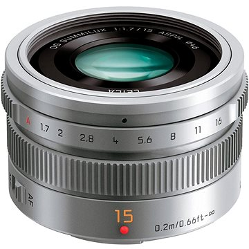 Panasonic Leica DG Summilux 15mm f/1.7 ASPH stříbrný (H-X015E-S)