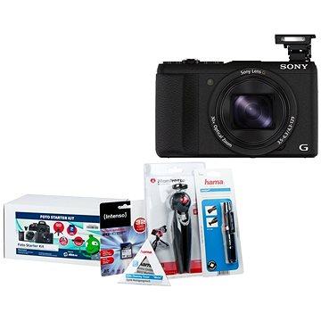 Sony CyberShot DSC-HX60 černý + Alza Foto Starter Kit 32GB