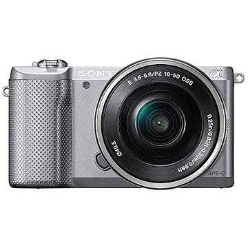 Sony Alpha 5000 stříbrný + objektiv 16-50mm (ILCE5000LS.CEC) + ZDARMA Paměťová karta Sony Micro SDHC 16GB Class 10 + SD adaptér