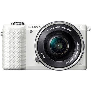 Sony Alpha 5000 bílý + objektiv 16-50mm (ILCE5000LW.CEC) + ZDARMA Paměťová karta Sony Micro SDHC 16GB Class 10 + SD adaptér