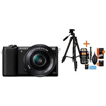 Sony Alpha A5100 černý + objektiv 16-50mm + Rollei Foto Starter Kit 2