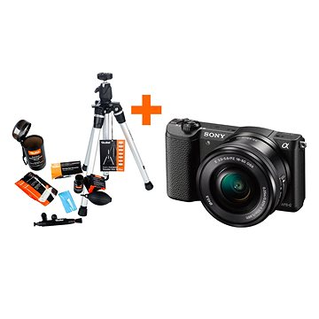 Sony Alpha A5100 černý + objektiv 16-50mm + Rollei Starter Kit