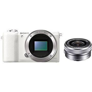 Sony Alpha A5100 bílý + objektiv 16-50mm (ILCE5100LW.CEC) + ZDARMA Paměťová karta Sony Micro SDHC 16GB Class 10 + SD adaptér