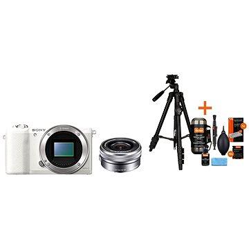 Sony Alpha A5100 bílý + objektiv 16-50mm + Rollei Foto Starter Kit 2