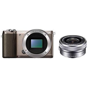 Sony Alpha A5100 hnědý + objektiv 16-50mm (ILCE5100LT.CEC) + ZDARMA Paměťová karta Sony Micro SDHC 16GB Class 10 + SD adaptér
