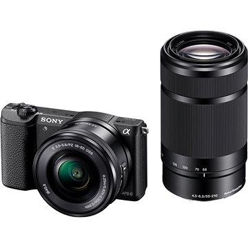 Sony Alpha A5100 černý + objektiv 16-50 + 55-210mm (ILCE5100YB.CEC) + ZDARMA Paměťová karta Sony Micro SDHC 16GB Class 10 + SD adaptér