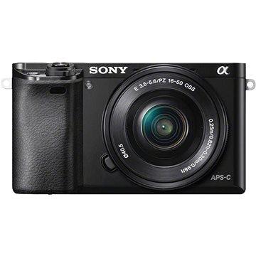 Sony Alpha 6000 černý + objektiv 16-50mm (ILCE6000LB.CEC) + ZDARMA Paměťová karta Sony Micro SDHC 16GB Class 10 + SD adaptér