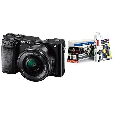 Sony Alpha 6000 černý + objektiv 16-50mm + Alza Foto Starter Kit
