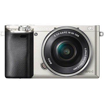 Sony Alpha 6000 stříbrný + objektiv 16-50mm (ILCE6000LS.CEC) + ZDARMA Poukaz Elektronický dárkový poukaz Alza.cz v hodnotě 1000 Kč, platnost do 28/2/2017 Paměťová karta Sony Micro SDHC 16GB Class 10 + SD adaptér