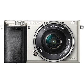 Sony Alpha 6000 stříbrný + objektiv 16-50mm (ILCE6000LS.CEC) + ZDARMA Paměťová karta Sony Micro SDHC 16GB Class 10 + SD adaptér